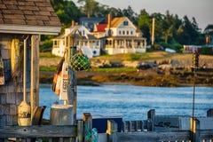 Muelle de la costa costa de Maine imágenes de archivo libres de regalías