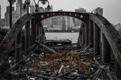 Muelle de la nave Foto de archivo libre de regalías