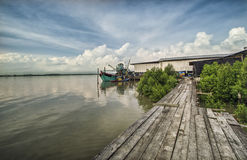 Muelle de la pesca Imagen de archivo libre de regalías
