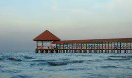 Muelle de la playa de la purina imagen de archivo
