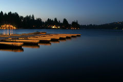 Muelle de la punta de flecha del lago Foto de archivo libre de regalías