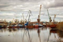 Muelle de la reparación de la nave Fotografía de archivo libre de regalías