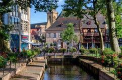 Muelle de la Sinn, Francia de la tarjeta de la visita de Colmar Fotografía de archivo libre de regalías