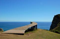 Muelle de las Almas. Coastal view onto the Muelle de las Almas bridge with the ocean in the background Royalty Free Stock Photo