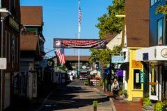 Muelle de las barandillas, Newport, RI Foto de archivo