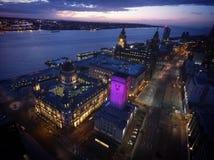 Muelle de Liverpools albert Imágenes de archivo libres de regalías