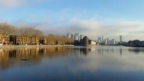 Muelle de Londres Imágenes de archivo libres de regalías