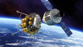 Muelle de nave espacial stock de ilustración