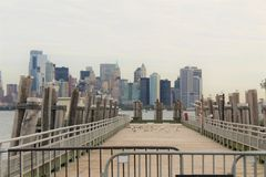 Muelle de New York City fotografía de archivo libre de regalías