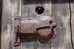 Muelle de puerta oxidado fotografía de archivo libre de regalías