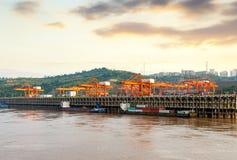 Muelle de río Yangtse de China Stock Photos