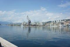 Muelle de Rijeka Imagen de archivo libre de regalías