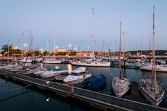 Muelle de Santo Amaro Recreation en Lisboa, Portugal Fotos de archivo