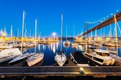Muelle de Santo Amaro Recreation en Lisboa, Portugal Fotos de archivo libres de regalías