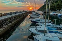 Muelle de Trieste Italia Foto de archivo libre de regalías