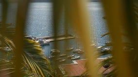 Muelle del barco de Herceg Novi, ciudad vieja, Montenegro metrajes