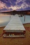 Muelle del barco en el lago Okanagan Imagen de archivo libre de regalías