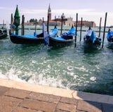 Muelle del barco en Venecia Imagen de archivo