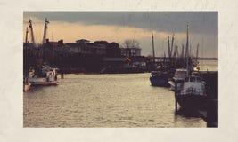 Muelle del barco del vintage Imagen de archivo