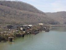 Muelle del carbón de Cheylan imagenes de archivo