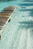 Muelle del Caribe del barco Foto de archivo libre de regalías