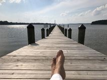 Muelle del Chesapeake Fotos de archivo libres de regalías