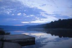 Muelle del lago Fotografía de archivo