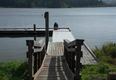 Muelle del lago Imagen de archivo libre de regalías