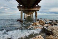 Muelle del mar de Marbella Fotos de archivo libres de regalías