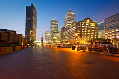 Muelle del norte en Canary Wharf, Londres Imagen de archivo libre de regalías