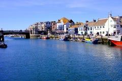 Muelle del norte del puerto de Weymouth, Dorset, Reino Unido Fotografía de archivo