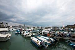 Muelle del pescador s de Tamshui, Taipei, Taiwán Imagen de archivo libre de regalías