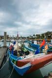 Muelle del pescador s de Tamshui, Taipei, Taiwán Foto de archivo libre de regalías