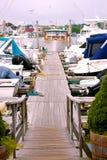 Muelle del puerto deportivo Imagenes de archivo