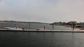 Muelle del punto del pino en Maine