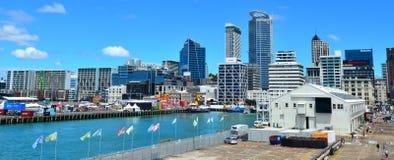 Muelle del Queens en la costa Nueva Zelanda de Auckland Fotografía de archivo