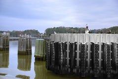 Muelle del río de James, Virginia Fotos de archivo libres de regalías