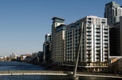 Muelle del sur, Docklands de Londres Imagenes de archivo