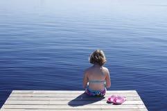 Muelle del verano Imagenes de archivo