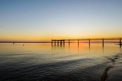 Muelle del Vigia, Mazagon, Huelva, ατλαντική ακτή, Ανδαλουσία, Ισπανία στοκ εικόνες