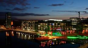 Muelle Dublín del canal magnífico Foto de archivo libre de regalías