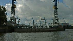 Muelle Elba 17, Hamburgo almacen de video