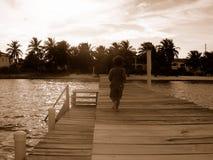 Muelle en Belice Foto de archivo