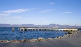 Muelle en Bracciano - ÉL Fotografía de archivo