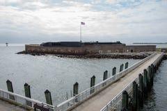 Muelle en el fuerte Sumter fotografía de archivo