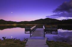 Muelle en el lago Imágenes de archivo libres de regalías