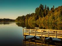Muelle en el lago capitol imágenes de archivo libres de regalías