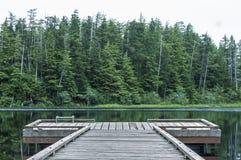 Muelle en el lago heart Imagenes de archivo