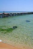 Muelle en el Mar Negro Foto de archivo