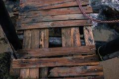 Muelle en ruinas Obrazy Royalty Free